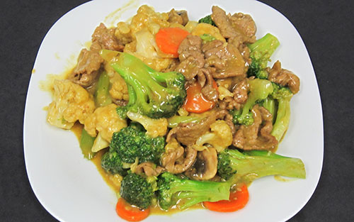 (67) Beef with Mixed Greens in Curry Sauce